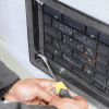 Tightening mounting screws of ATMOX external mount foundation fan
