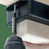 Photo of ATMOX wood moisture sensor being installed