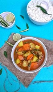 Chicken Vegetable Stew / Indian Spiced Chicken Stew
