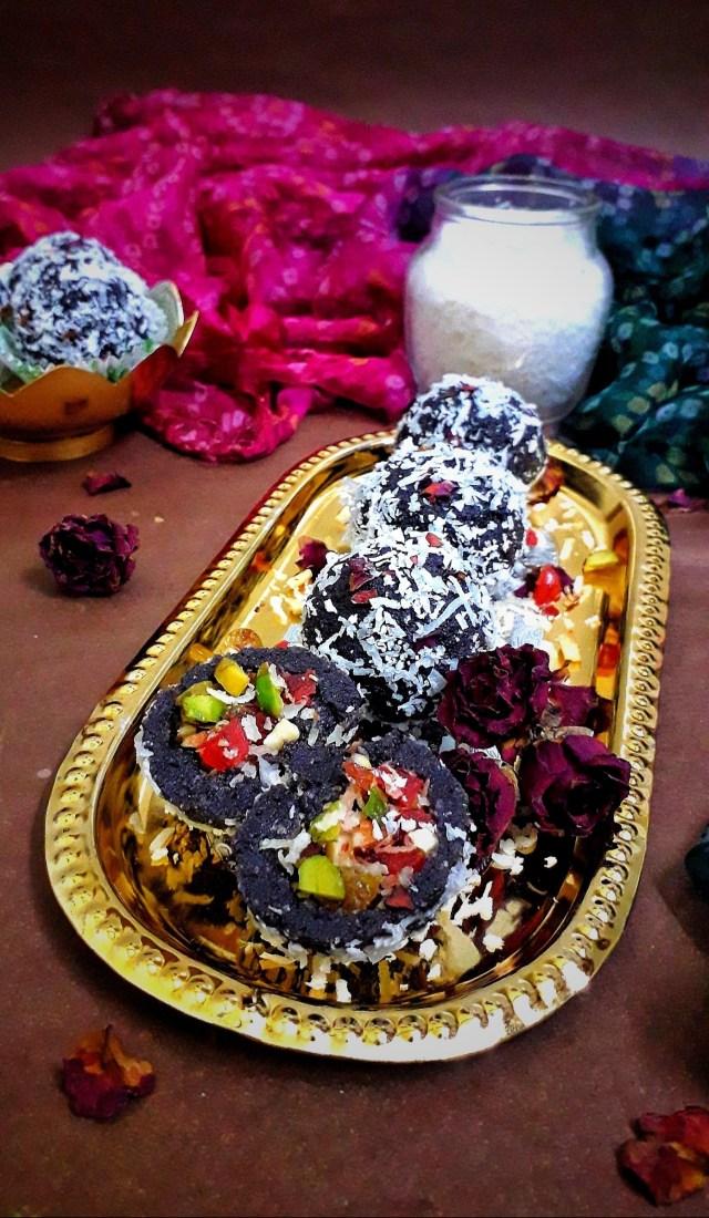 Nuts Stuffed Black Rice Ladoo