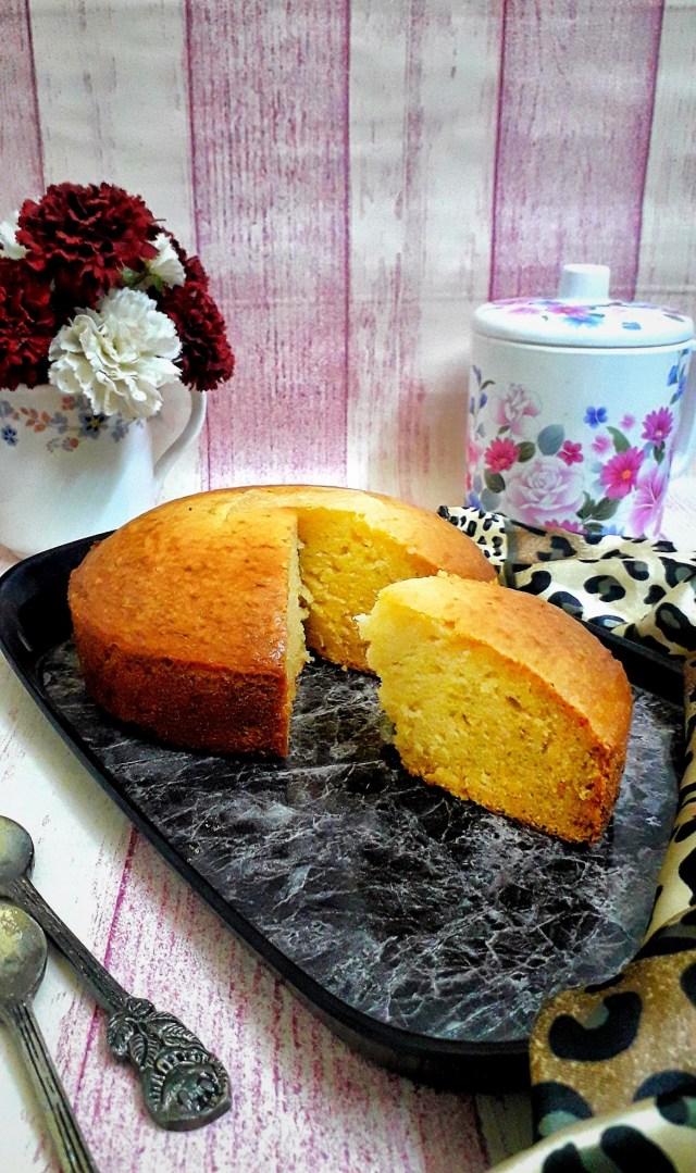 Eggless Vanilla Cake With Condensed Milk / Condensed Milk Sponge Cake