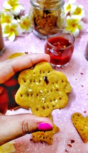 Masala Crackers / Baked Savoury Crackers / Desi Crackers