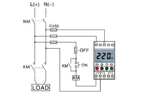 Voltage Monitoring Relay, Under/Over Voltage, 1 Phase, 110