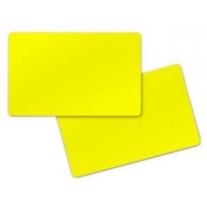 100 Cartes jaunes 0,76 mm