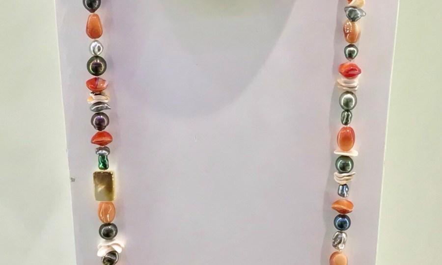 Sautoir mix perles de Tahiti