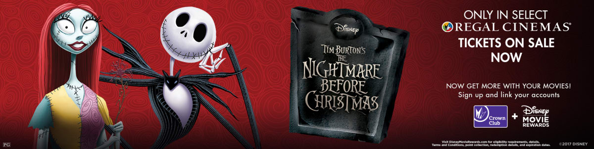 Regal Dimond Center 9 Cinemas Movie Theatre The Nightmare Before Christmas   Disney Movie Rewards