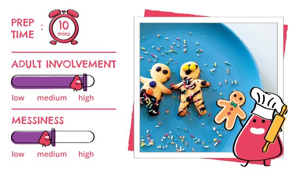 Atom & the Dot It's Christmas! Food art, gingerbread man