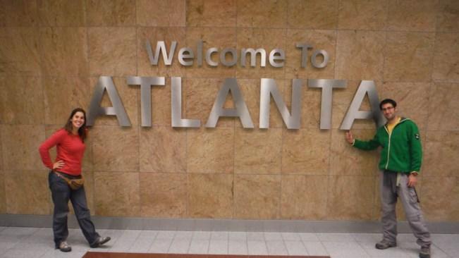 Señal welcome to Atlanta