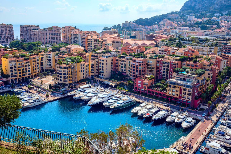 Panorámica del puerto de Mónaco
