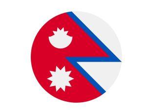 Bandera redonda de Nepal