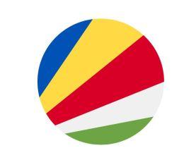 Bandera redonda de Seychelles