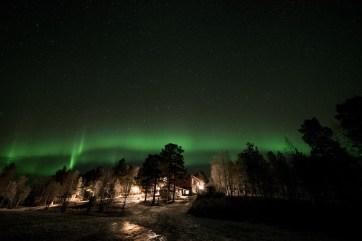 Nuestro alojamiento y la aurora boreal