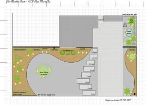 1501 Bryn Mawr Front Yard Plan