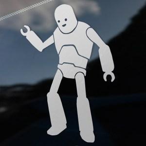 Big Bot Buddy Decal on a Car