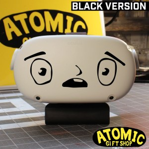 cartoon face decal for vr headsets and cars and more
