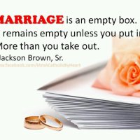Marriage is an empty box...