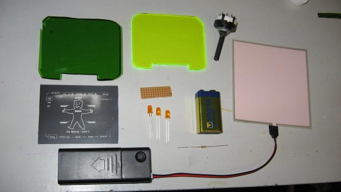 Pip boy 3000 electronic parts