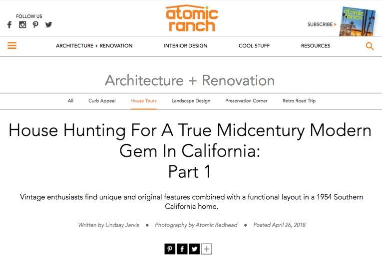Screenshot of Atomic Ranch's blog