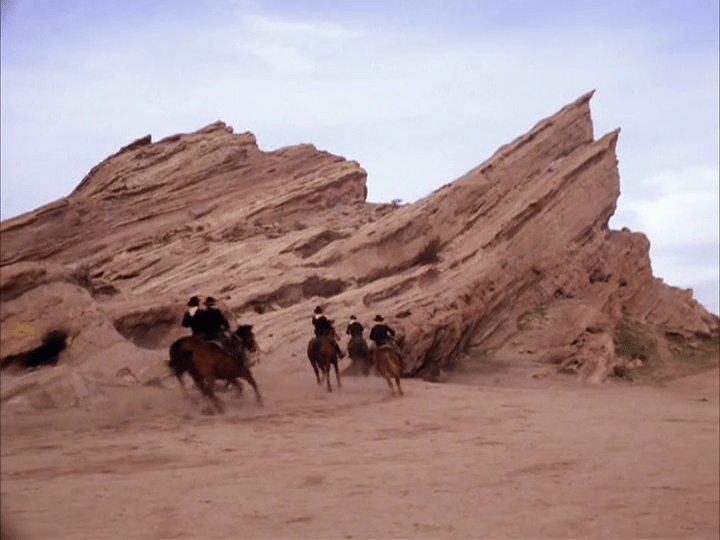 "Vasquez Rocks in The Wild Wild West episode ""The Night of the Cadre."""