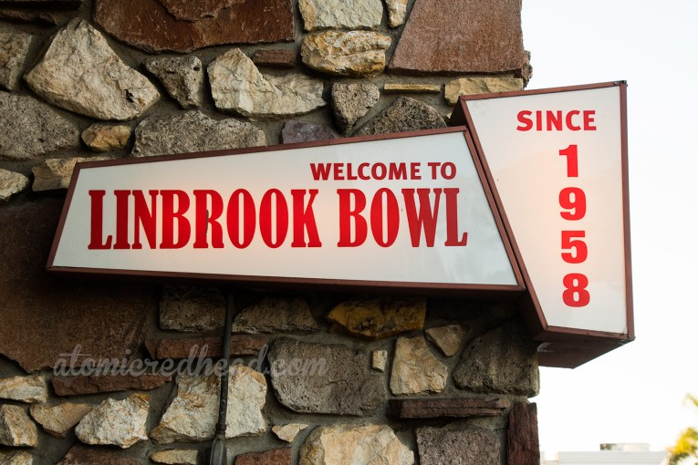 Near the main entrance is a lighted sign welcoming you to Linbrook, and letting you know it's been here since 1958.