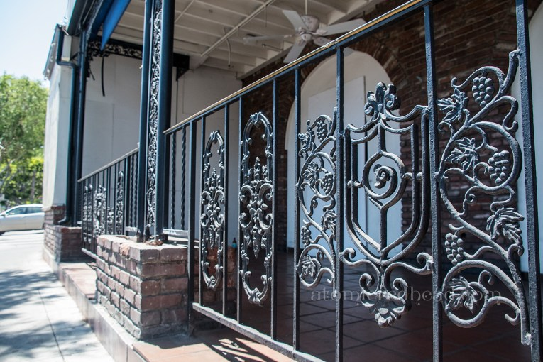 The wrought iron railing to enclose the outdoor patio.