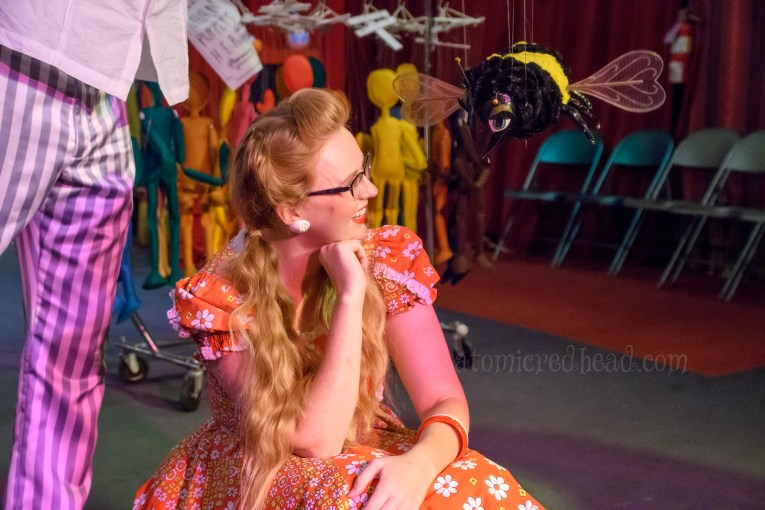 Chatting with the bee marionette from Escape to Witch Mountain