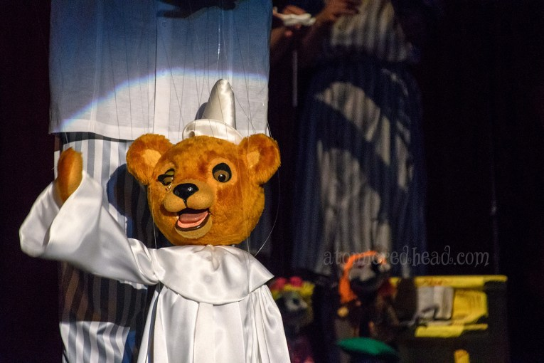 An opera singing teddy bear.