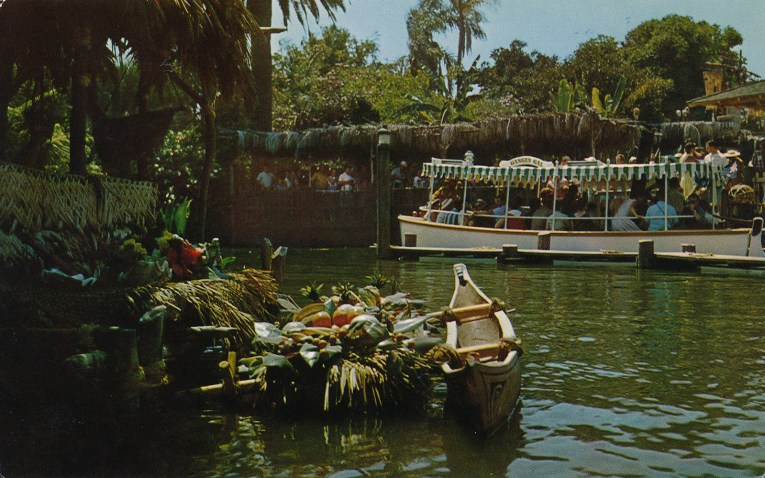 Jungle Cruise boats leave the dock