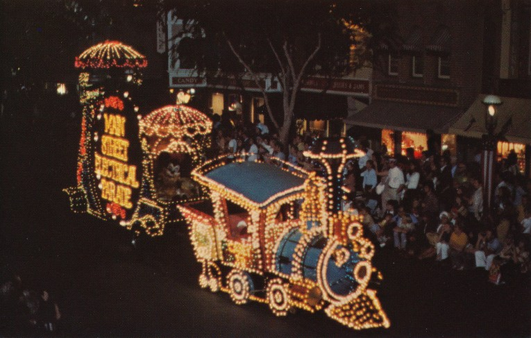 The Casey Jr. float from the Main Street Electrical Parade.