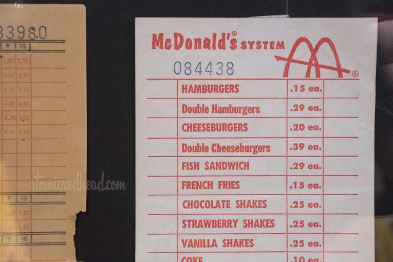 Vintage receipt for McDonald's.