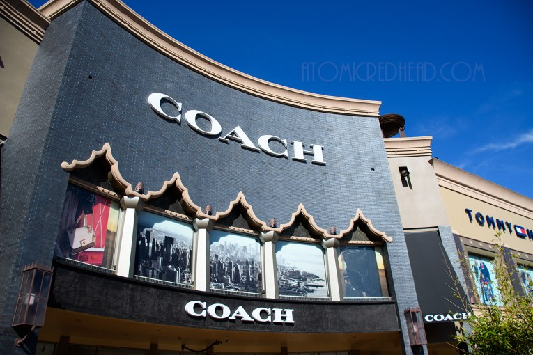 The Coach store at the Citadel, with Assyrian inspired window frames.