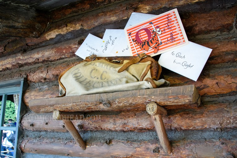 A valentine for Tigger is tucked among other mail in Critter Country.