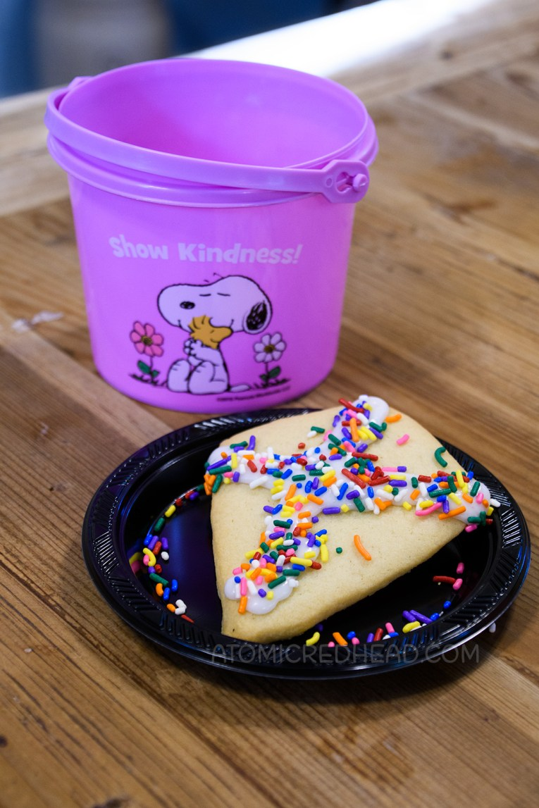 A kite shaped cookie that Guests can decorate.