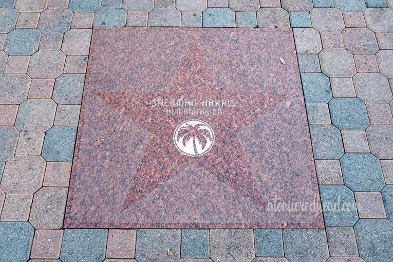 Sherman Harris' star on the sidewalk in Palm Springs.