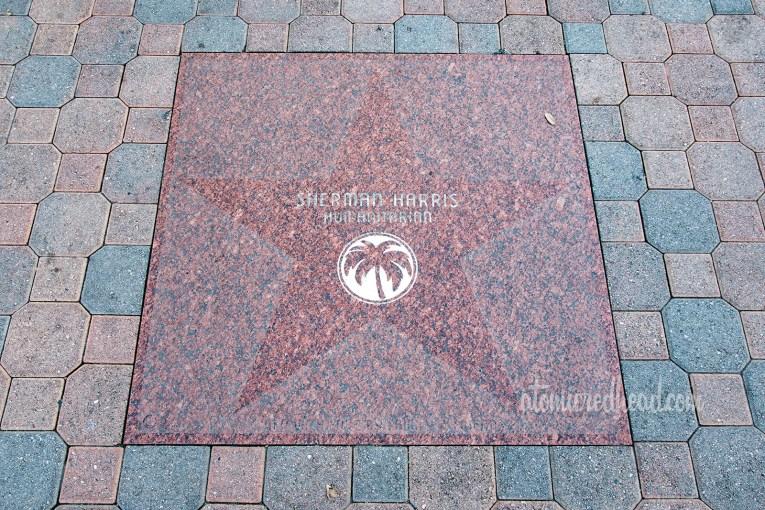 Sherman Harris' star on the sidewalk in Palm Springs.
