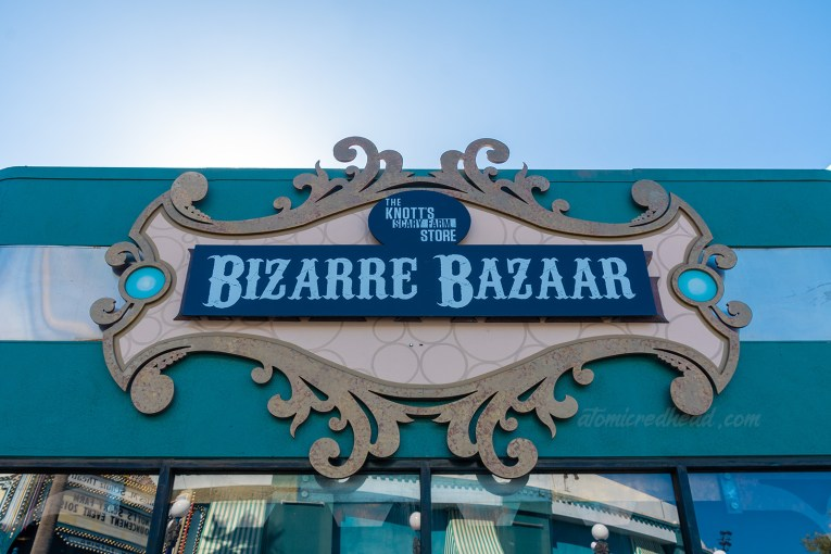 """Exterior of the Bizarre Bazaar, where various goodies for Knott's Scary Farm are available for sale, including the art show """"Into the Fog"""""""