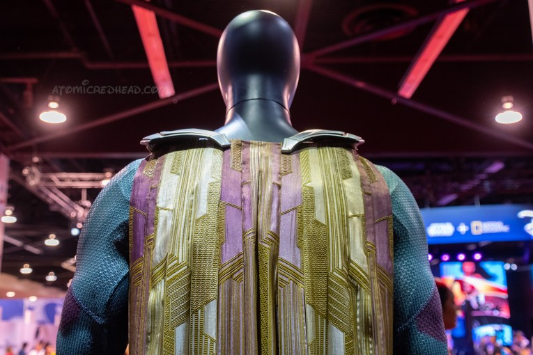 Vision's cape from Avengers, which is pink and gold and features a pattern that looks like circuit boards.