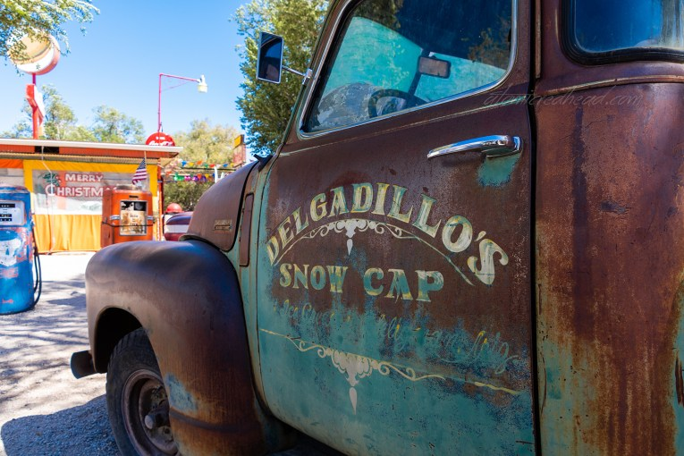 """The faded trick for the """"Sno Cap Drive In"""""""