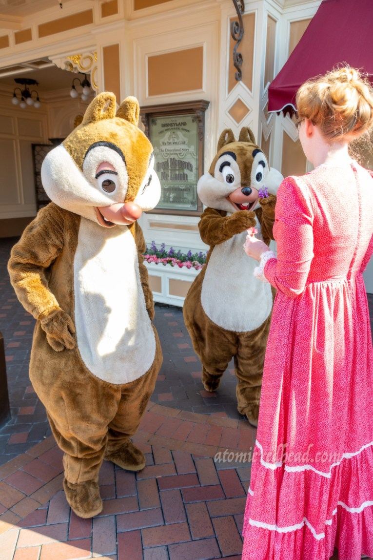 Chip attempt to up Dale by handing me more flowers.