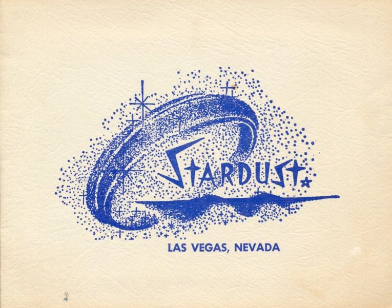 "Blue dots and diamonds scattered around text that reads ""Stardust Las Vegas, Nevada"""