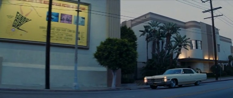 As Cliff and Rick drive away the side of the studio building features a large ad for Funny Girl