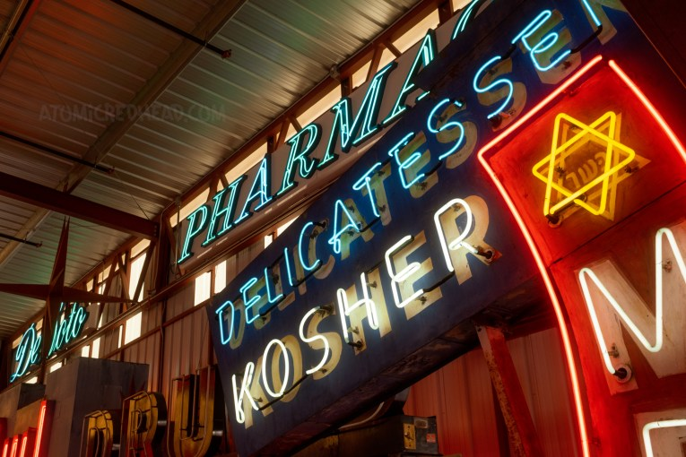 Neon for a Jewish deli.