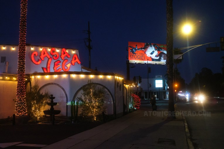 Casa Vega as it appears today at night.