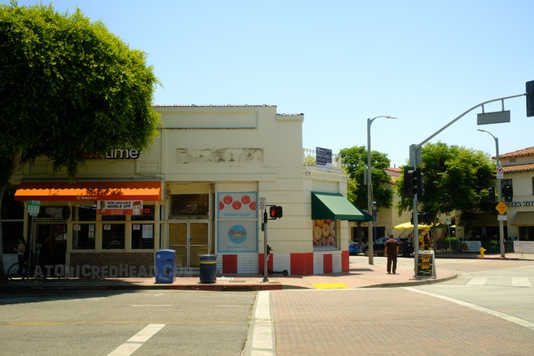 The shops across from The Bruin today.