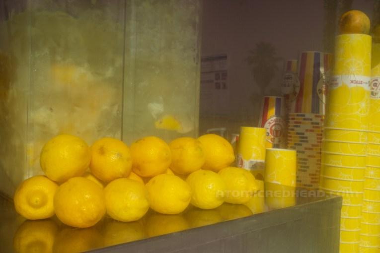 Lemons stacked ready to become lemonade.