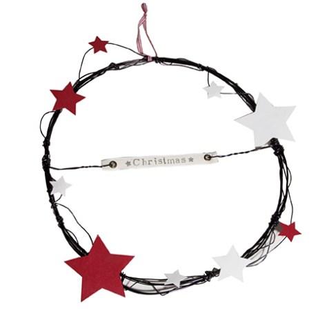 Rosca alambre con estrellas y mensaje