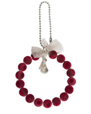 Rosca terciopelo natural y roja