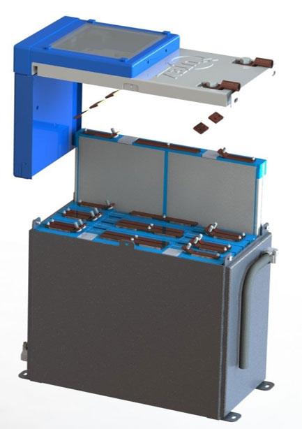 Concept liquid-cooled battery module