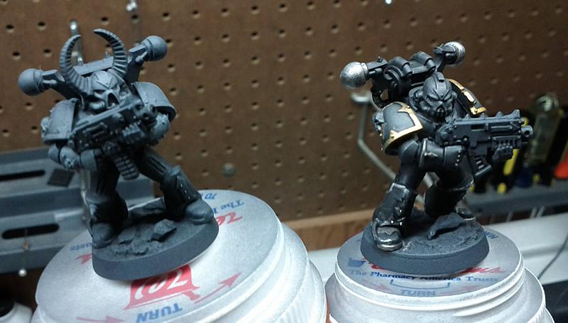 Beginning the Black Legion Paint Scheme (2/2)