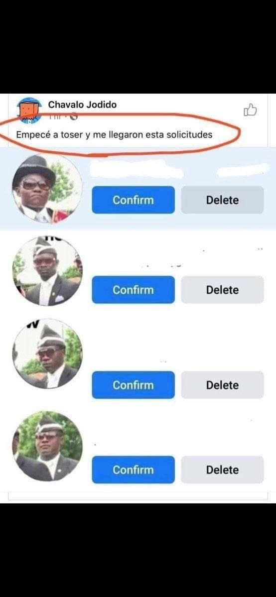 Coffin Dance meme solititudes de amistad